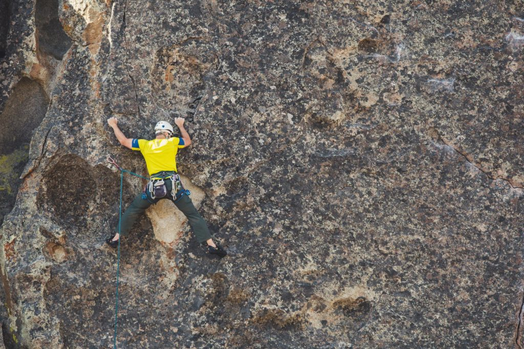representative image of rock climbing