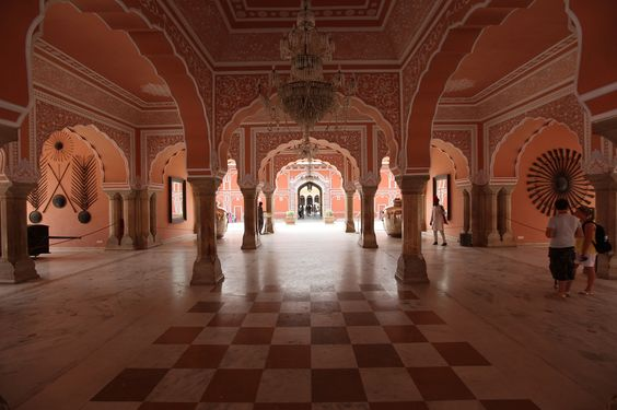 Interior of City Palace in Jaipur
