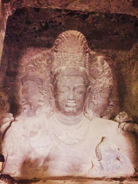 Image of Elephanta Caves situated in Maharashtra, India