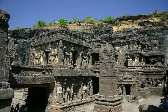 Image of Ellora Cave Architecture.